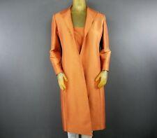 Vintage Linda Allard Ellen Tracy Silk Copper Orange 2 Piece Tank and Coat A2