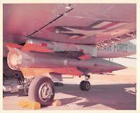 Original Vintage Photograph Missile Mounted On USAF Plane  #89