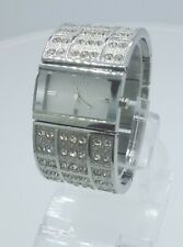 DKNY NY3713 ladies full steel time only watch diamonds inserts NY-3713 3 ATM