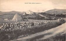 c.1940 Smilin Through Home & Field Farm Scene Block Island RI post card