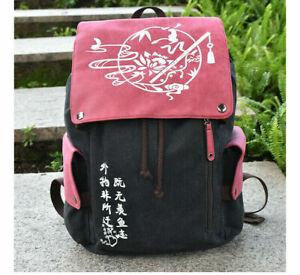 Anime Demon Slayer Laptop Shoulder Bag Casual Canvas Backpack School Cosplay Bag