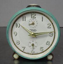 vintage alarm clock - Alter mintgrüner mechanischer Wecker Diehl Cavalier  ~60er