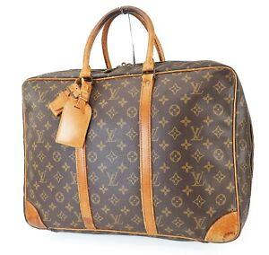 Authentic LOUIS VUITTON Sirius 45 Monogram Suitcase Travel Business Bag #39703