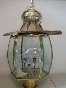 "Seagull Lighting - Pendant Lights ""New in Box"" - Polished Brass Beveled Glass 82"
