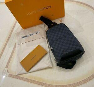 Louis Vuitton AVENUE SLING BAG / Damier Graphite Canvas / France / N41719