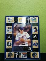 NOLAN RYAN AUTOGRAPHED SIGNED 8X10 PHOTO TEXAS RANGERS BLOODY. FRAMED +9 CARDS.