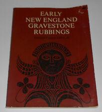 Early New England Gravestone Rubbings Edmund Gillon History Colonial Cemetery