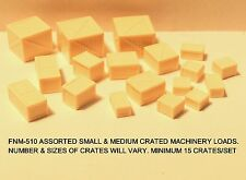 ASSORTED SMALL & MEDIUM WOODEN CRATE LOADS - 15-18/SET - N SCALE: FNM-510-1
