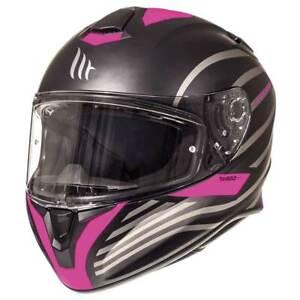 MT Targo Doppler Ladies Matt Black / Pink Motorbike Motorcycle Helmet