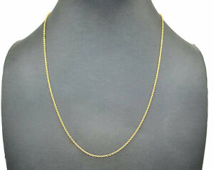Gold Belcher Link Chain, 18 inches, Sterling Silver, 14K gold Electroplated
