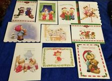 10 Assorted Ruth Morehead Christmas Greeting Cards with Cute Children Lot B