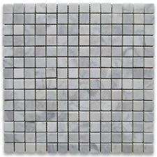 Carrara White Italian Carrera Marble Square Mosaic Tile 3/4x3/4 Honed