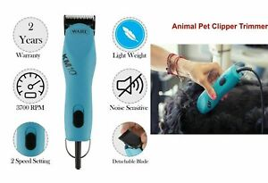 Wahl KM10 Professional Corded Animal Dog Pet Fur Clipper, Blue & Free Shippng