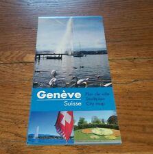 Geneve Suisse Plan De Ville Stadtplan City Map Switzerland Swiss Creative Rare