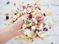 Wedding Confetti Freeze Dried Flower Petals Biodegradable Natural 1 Litre *Sale*