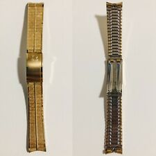 A+ VINTAGE OMEGA 18mm GOLD PLATED BRICK BRACELET SEAMASTER DEVILLE CONSTELLATION