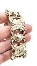 HEAVY Vtg Mexican TAXCO Modernist MAXIMILIANO MONDRAGON Sterling Silver Bracelet