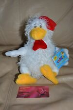 WEBKINZ WHITE CHICKEN HM205  FULL SIZE PLUSH NEW WITH SEALED CODE FREE SHIPPING