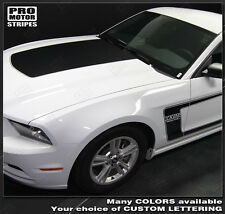 Ford Mustang 2010-2014 BOSS 302 Style Hood & Side Stripes Decals (Choose Color)