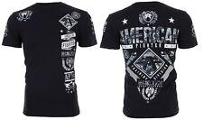 American Fighter Men S/S T-Shirt LANDER Athletic BLACK GREY CAMO Biker S-3XL $40