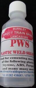 PWS, PLASTIC WELD SOLVENT, PLASTIC GLUE, PLASTIC WELD GLUE, 100ml,