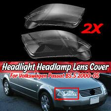 For Volkswagen VW Passat B5.5 2000-2005 Headlight Headlamp Clear Lens Cover Caps
