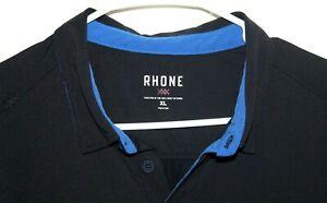 RHONE Polo Shirt Men's XL Black Nylon & Elasthane