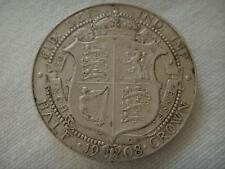 1908 EDWARD VII SILVER HALF CROWN VGC PLEASE SEE PICTURES