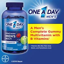 One A Day VitaCraves Men's Multi, 230 Gummies New!!