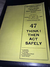 1951 ERIE RAILROAD CO. WESTERN DISTRICT NUMBER 47 SAFETY MANUAL