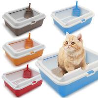 Large Pet Litter Tray Scoopless Sifting Cat Dog Rabbit Toilet Framed Box Rim