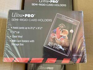 Ultra Pro Semi-Rigid Card Holders Box of 200 Card Holders