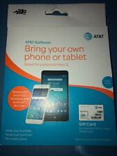 At&T Prepaid Starter Kit 4G Lte Sim Card for Standard, Micro , Nano Sim devices