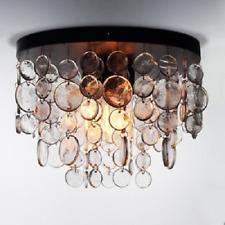 Saint Mossi Modern K9 Crystal Vintage Ice Raindrop Chandelier Lighting Flush LED