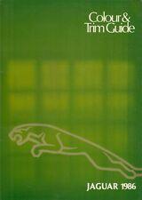JAGUAR COLORI E FINITURE 1985-86 UK opuscolo XJ6 SOVEREIGN S3 XJS la DAIMLER 4.2 5.3