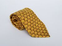 "Men's HERMES Silk Tie Necktie 7719 OA  -Yellow Orange Floral  58"" X 3.5"""