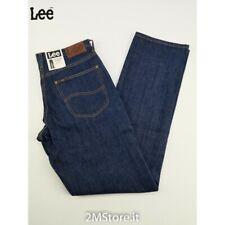 Jeans Lee BROOKLYN Uomo L452DJ45 BLU INDIGO Regular FIT STRAIGHT LEG ZIP FLY