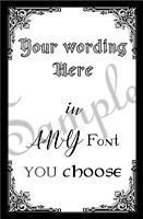 Personalised Your own wording text Quote A4 A5 letter Sign Print Halloween 3