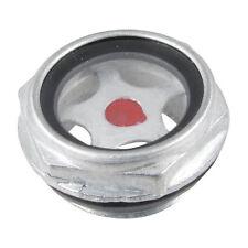 Metallo filettato 26mm maschio compressore d'aria livello dell'olio vetro spia P2X6 N7Y0