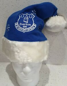 Everton FC Official Royal and White Santa/ Christmas Hat - Great Gift Idea