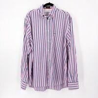 Paul & Shark Mens Shir Size 44 Striped Cotton Button Front Dress Shirt Yatching