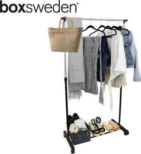Box Sweden Single Garment Rack w/ Wheels