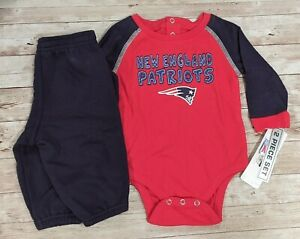 NFL New England Patriots 3-6 Months Infant Romper and Pants 2 Piece Set NWT