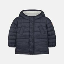 SAVE THE DUCK BOYS HOODED COAT 001 BLACK