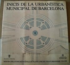 book on BARCELONA urban planning/architecture 1750-1930 with many maps CATALAN