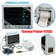 Icu Patient Monitor Vital Signs Ecg Cardiac Monitor Printercapnographstandbag