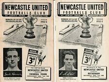 More details for football programme x 2 newcastle united v rotherham swansea fa cup 1953