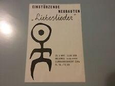 EINSTURZENDE NEUBAUTEN MARCH 3 1985 AMSTERDAM FLYER NMINT RARE CLEAN VTG HTF!