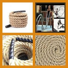 Cross Fit Functional Cross Training Gym 50mm Natural Sisal BATTLE ROPE 10 metre