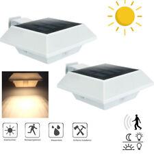 2x LED Solarleuchte Solarlampe mit PIR Bewegungsmelder Außen Fluter Wandstrahler